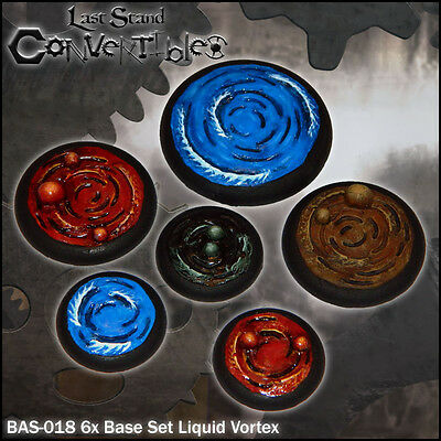 LAST STAND CONVERTIBLES BITS - 6x BASE SET LIQUID VORTEX - WATER OIL LAVA MUD
