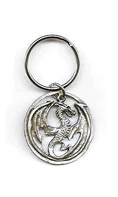 Dragon Flight Key Ring - Pewter