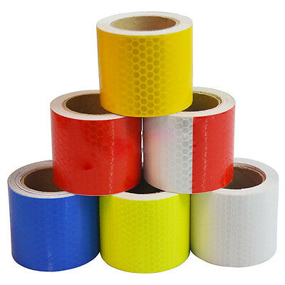 HOT Reflective Safety Warning Conspicuity Tape Film Sticker Multicolor