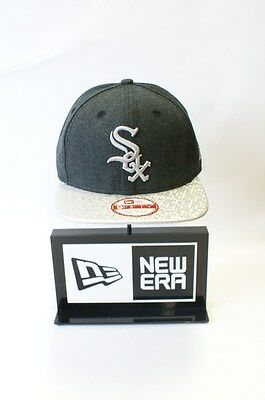New Era 9FIFTY MLB Chicago White Sox Shine Peak Grey Snapback Hat Baseball Cap