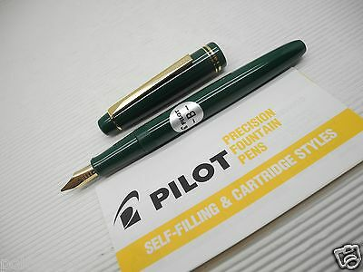 Green PILOT 78G Broad nib Fountain Pen with Ink Converter(Made in Japan)