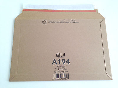 A194 size Lil 292 x 194mm Rigid Cardboard Book Mailer Envelope Large Letter