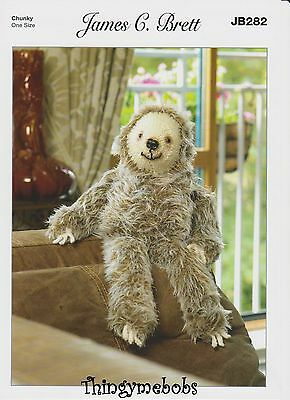 James C Brett Jb282 Laid Back Larry Sloth Original Knitting Pattern - Faux Fur