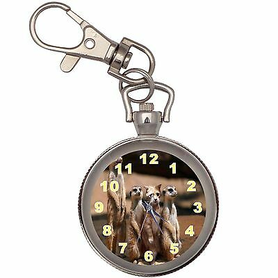 Alien Silver Key Ring Chain Pocket Watch