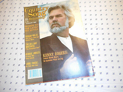 Kenny Rogers Covers Country Song Roundup Magazine January 1982 Boxcar Willie