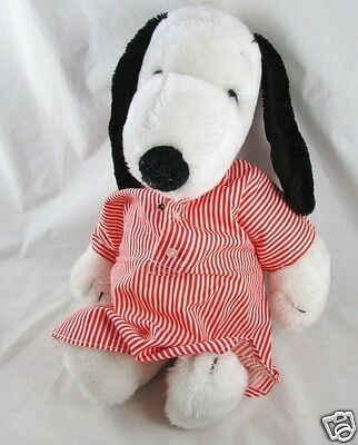 "18"" Plush SNOOPY Vintage United Syndicate in Night Shirt"