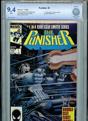 The Punisher #1 Marvel Comics CBCS 9.4 NM 1986 #1 in 4 Part Series