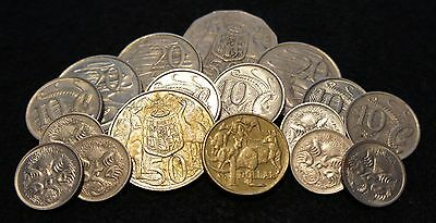 1966-1999 Australia Mixlot coins $3.45 Face Value in VG Condition SILVER HALF!