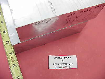 "2 Pieces 2""x 6"" ALUMINUM 6061 FLAT BAR 7"" long SOLID T6511 2.0 Plate Mill Stock"