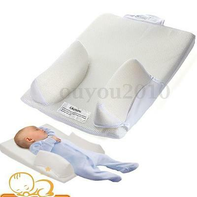 Newborn Baby Infant Sleep Positioner Anti Roll Pillow Prevent Flat Head Cushion