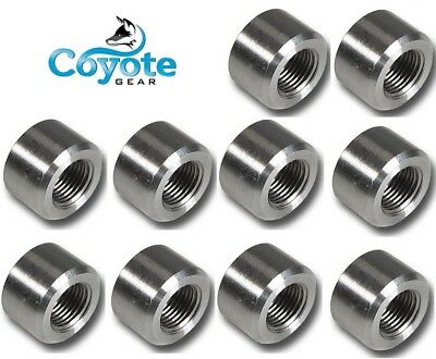 """High Pressure 3//8/"""" NPT 304 Stainless Half Coupling Weld Bung 3000 Coyote Gear SS"""