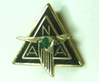 North American Aviation Aircraft Co. Enameled Service Pin - Green Stone