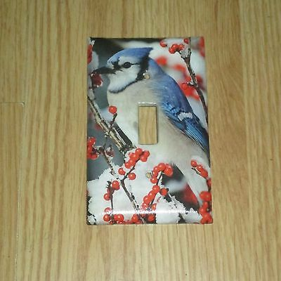 Blue Jay Bluejay Wild Bird Light Switch Cover Plate #4