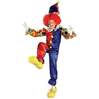 Bubbles the Clown Kids Costume Circus Halloween Fancy Dress