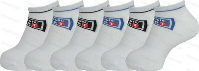6 Pairs Girls Boys White Cotton Trainer Socks Childrens Shoe Liners Sports wear