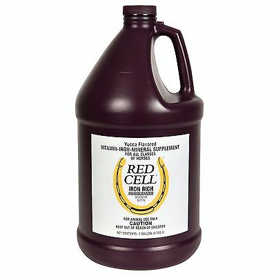 Farnam Red Cell Iron Rich Vitamin Mineral Horse Supplement Gallon
