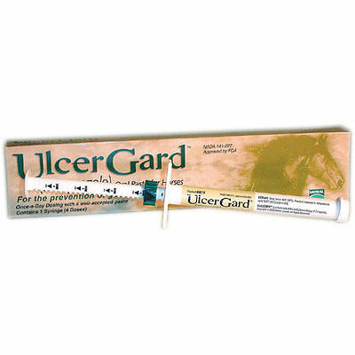 UlcerGard Ulcer Gard Oral Paste Horse Pony horses Prevents Treats Ulcers 4 Doses