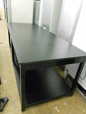 """104"""" X 40"""" X 36"""" Tall 1"""" Thick Composite Top Lab Bench/table With Bottom Shelf"""