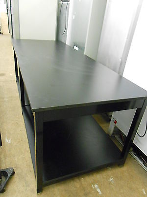 "104"" X 40"" X 36"" Tall 1"" Thick Composite Top Laboratory Table With Bottom Shelf"