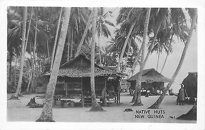 RPPC New Guinea Native Huts