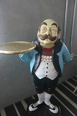 Royal Butler with tray 3ft- Waiter Statue Decor- LM Treasures