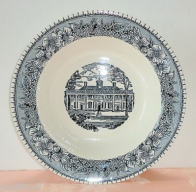 Royal China COLONIAL HERITAGE Vegetable Serving Bowl Dish Blue White Mt Vernon