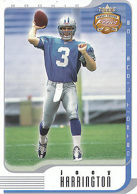 2002 Fleer Focus Je Rookie Rc #140 Joey Harrington 1792/1850 Lions *12531