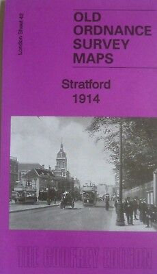 OLD ORDNANCE SURVEY MAPS STRATFORD NEAR BOW LONDON 1914 Godfrey Edition New