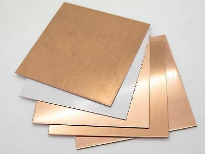 4 x 4 COPPER SHEET JEWELRY CRAFT KNIFE MAKING HANDLE SPACER METAL .0162 to .0625