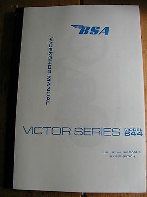 nuovo BSA B44 VICTOR ENDURO + SPECIALI MANUALE OFFICINA 1966-8 pt no 00-4128