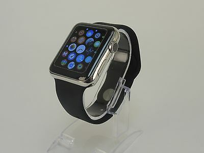 Black Apple Watch 38mm Replacement Silicone Wrist Bracelet Sport Band Strap