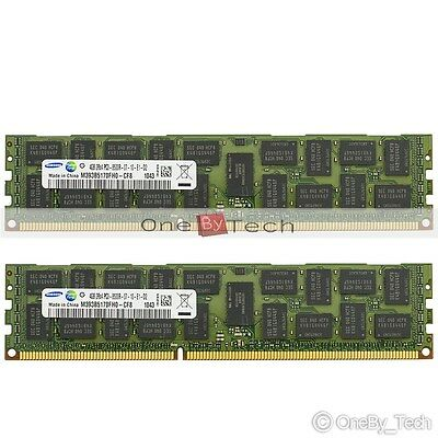 Samsung 8GB 2x4GB 2Rx4 PC3-8500R DDR3 1066MHZ 240-pin ECC Registered Memory CL7
