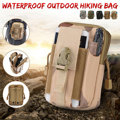Running Military Tactical Molle Utility Hiking Pack Waist Belt Pouch Bag AU