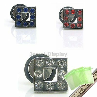 RHOMBUS Glass Belly Navel Rings Bars Body Piercing Earring Jewellery JB97