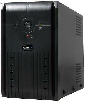 Powercool Smart UPS 650VA 15-20 Minutes Backup Time 2x UK Mains Socket PC 650VA