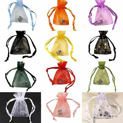 Luxury Organza  Gift Bags Pouches For Wedding Favor Jewellery  4 Sizes Available