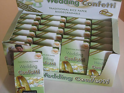 24 x BIODEGRADABLE WEDDING CONFETTI BOX BOXES PAPER SHAPES ELEGANT BIO