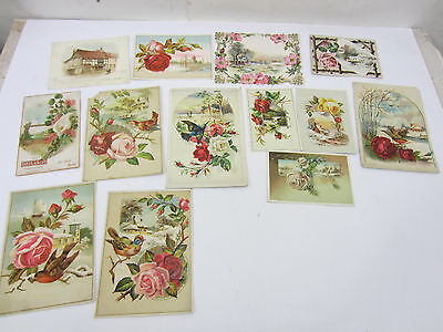 Antique Lot of 1890's Rose Themed Cards