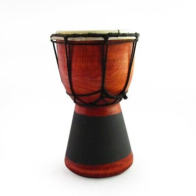 20cm High, Wooden Bongo Drum with Goat Skin with a Blackboard Stripe on Base
