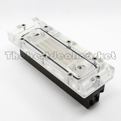 Ram Acrylic Water Block With 2 Set Spreaders & LED light  For PC Water Cooling