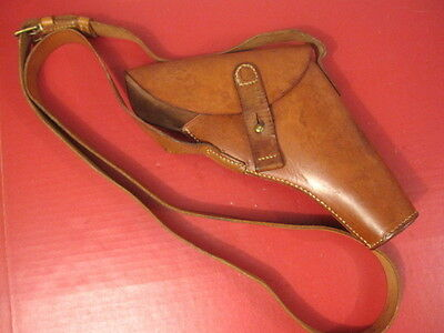 WWII British Webley & Scott No1 Mk III Flare Gun Pistol Leather Holster Unissued