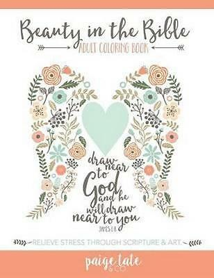NEW Beauty in the Bible By Adult Coloring Book Artists Paperback Free Shipping