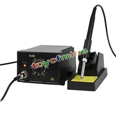 220V 110V AC ESD 936 SOLDERING STATION Heated IRON 60W Heater SET / 5pcs Tips HQ