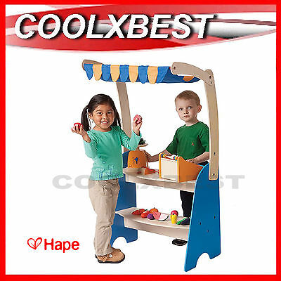 FREE DELIVERY - NEW HAPE MARKET CHECKOUT w CASHIER & SCALE PRETEND PLAY STALL