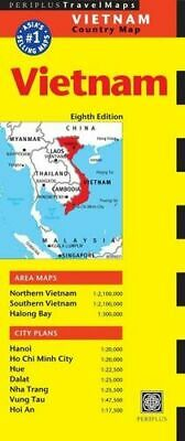NEW Vietnam Travel Map Eighth Edition By  Periplus Editions Rolled Sheet Map