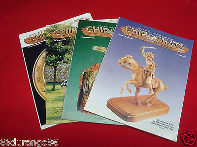 Wood Carving Magazines Chip Chats 2002 4 Issues Chip Power Relief Carving