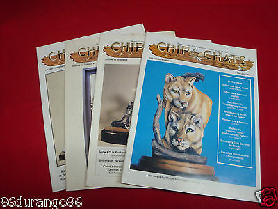 Wood Carving Magazines Chip Chats 2005 4 Issues Chip Power Relief Carving