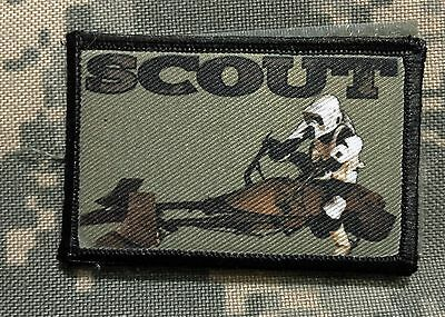 Star Wars Biker Scout Stormtrooper  Morale Patch Tactical Military USA Hook Flag