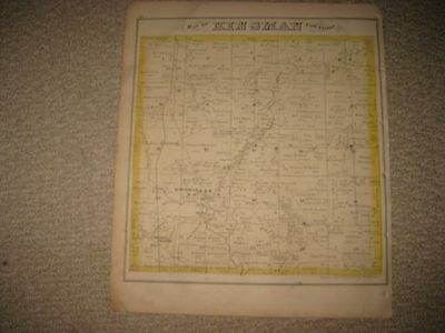 Antique 1874 Kinsman Bristol Township Trumbull County Ohio Map Bristolville Nr
