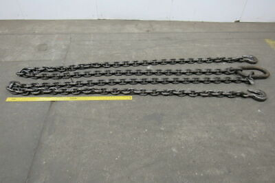 """7/8"""" Chain 16'-10"""" Overall Length Double Leg Chain Sling With Grab Hooks"""
